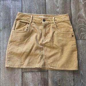 Roxy mustard mini skirt